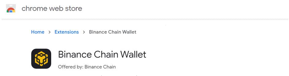 Extensión de cartera Binance Chain